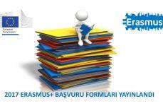 2017 ERASMUS+ BAŞVURU FORMLARI YAYINLANDI