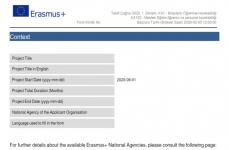Erasmus+ 2020 KA102 Başvuru Formu