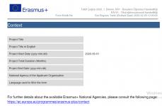 Erasmus+ 2020 KA101 Başvuru Formu