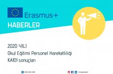 2020 Yılı Erasmus+ Okul Eğitimi Personel Hareketliliği Projeleri Başvuru Sonuçları