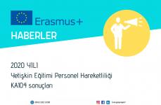 2020 Yılı Erasmus+ Yetişkin Eğitimi Personel Hareketliliği Projeleri Başvuru Sonuçları
