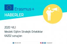 2020 Yılı Erasmus+ Programı Mesleki Eğitim Stratejik Ortaklıklar Faaliyeti Başvuru Sonuçları